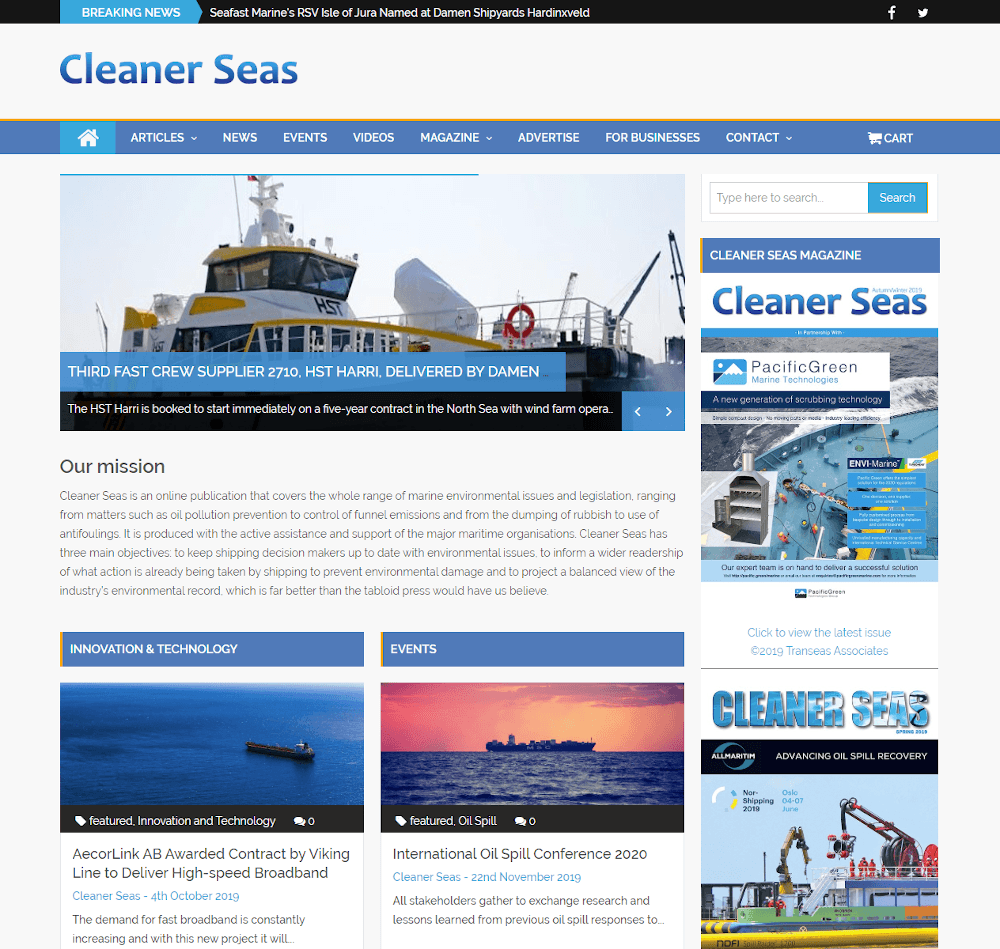 Aceweb cleaner seas - ace web studio